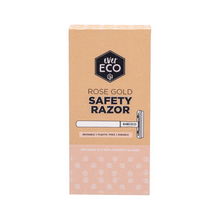 everECO Rose Gold Safety Razor + 10 Blades