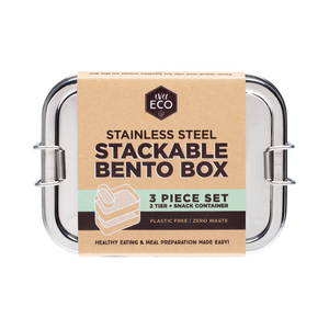 Ever Eco Stainless Steel Stackable Bento Box Set