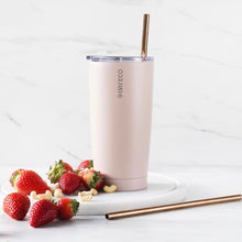 everECO Stainless Steel Insulated Tumbler - Rose in use
