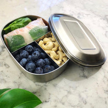 everECO Stainless Steel Bento Box - Three Compartments with contents