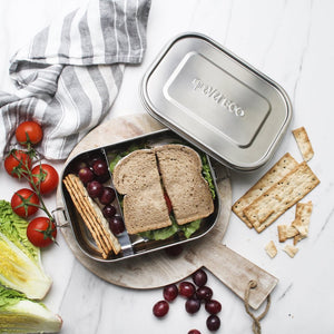 everECO Stainless Steel Bento Lunch Box showing Removable Divider