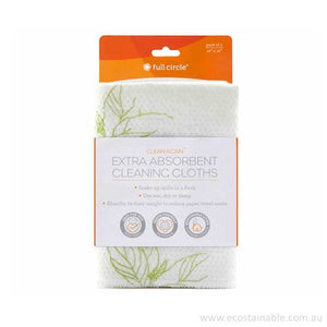 Full Circle 'Clean Again' Cleaning Cloths packaged