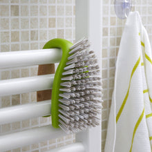 Full Circle 'Tough Stuff' All Purpose Scrub Brush hanging on rail