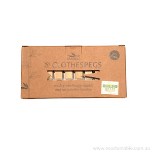 Go Bamboo Clothes Pegs in box