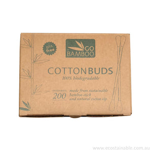 Go Bamboo Biodegradable Cotton Buds in box