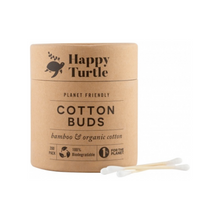 Happy Turtle Cotton Buds with buds