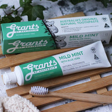 Grants Mild Mint Toothpaste display