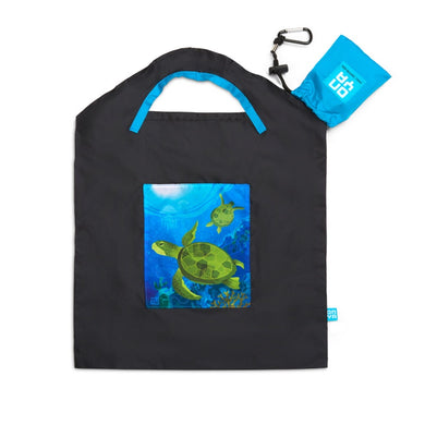 ONYA Large Recycled Shopping Bag - Sea Turtle