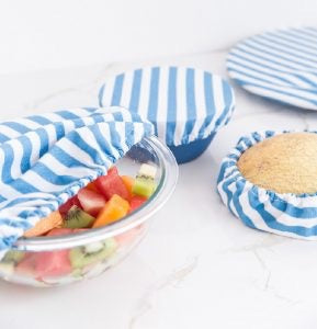 4myearth Food Covers - Set of 4 - Denim Stripe
