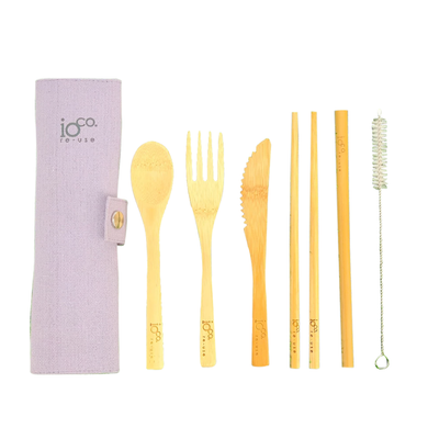 IOCO Bamboo Cutlery Roll - Grey