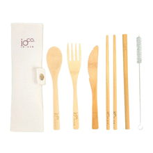 IOCO Bamboo Cutlery Roll with contents