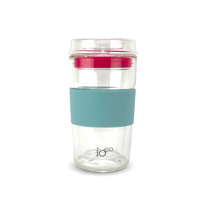 IOCO Traveller Glass Cup  - Ocean Blue + Hot Pink