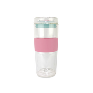 IOCO Traveller Glass Cup 16oz - Dusty Rose + Ocean Blue