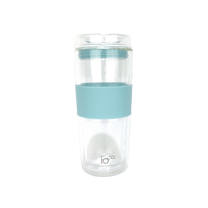IOCO Traveller Glass Cup 16oz - Ocean Blue