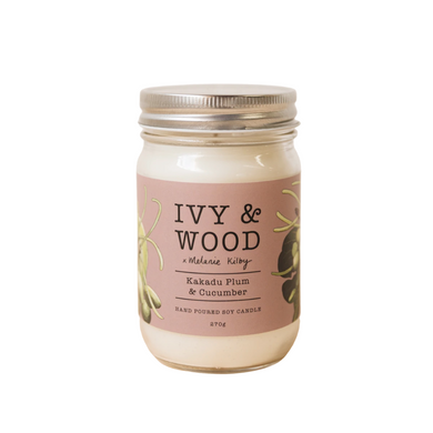 Ivy & Wood Australiana Candle - Kakadu Plum & Cucumber