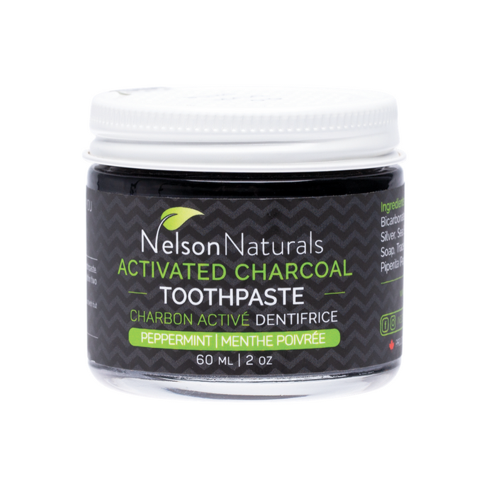 Nelson Naturals Toothpaste Jar - Activated Charcoal