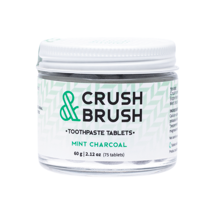 Crush & Brush Toothpaste Tablets - Mint Charcoal