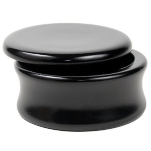 Mango Wood Shave Soap Bowl - Black