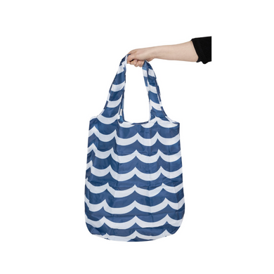 Project Ten Large Recycled Pocket Shopper - Waves