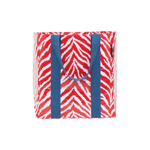 Project Ten Shopper Tote - Red Zebra