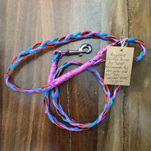 recycled bailing twine dog lead with tag