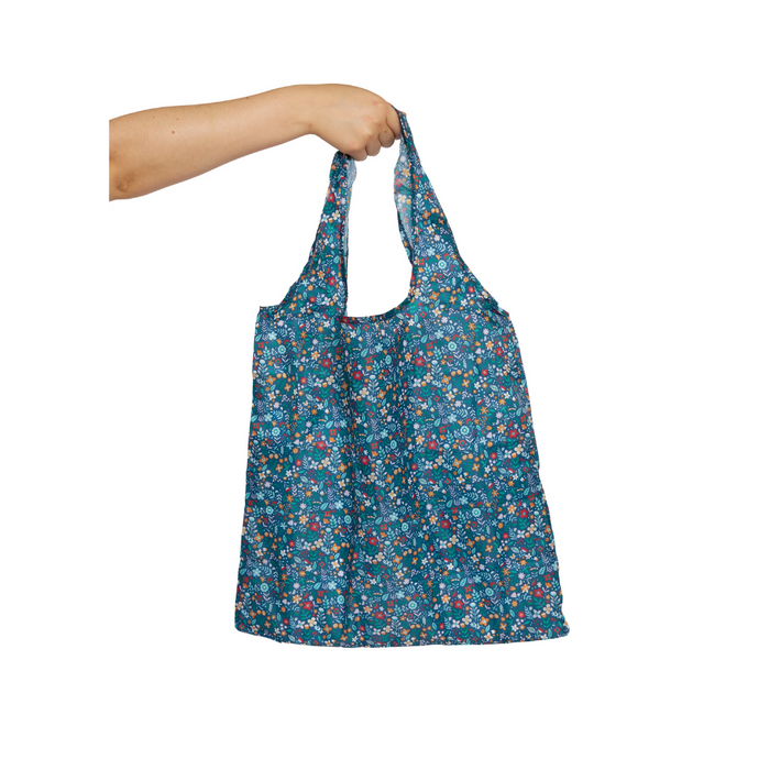 Project Ten Recycled Nylon Fold Up Shopper - Tiny Floral