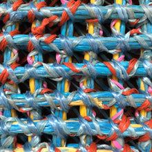 recycled bailing twine mat close up