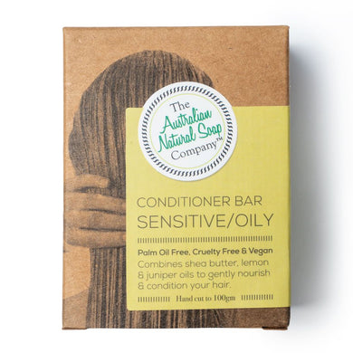 The Australian Natural Soap Co. - Conditioner Bar Sensitive/Oily in box