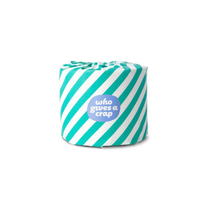 Who Gives A Crap 100% Recycled Toilet Paper - Green Stripes Wrap