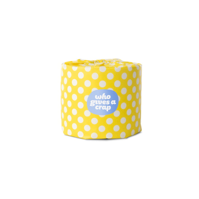 Who Gives A Crap 100% Recycled Toilet Paper - Yellow Wrap