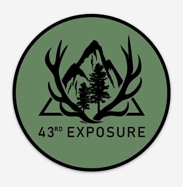 43rd Exposure GRN/BLK Logo Sticker