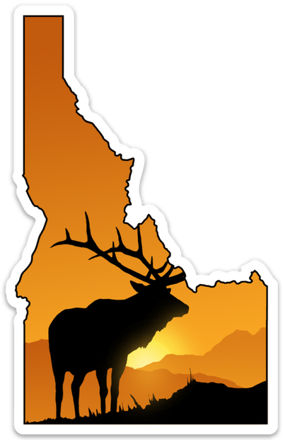 State of Idaho Elk Sticker