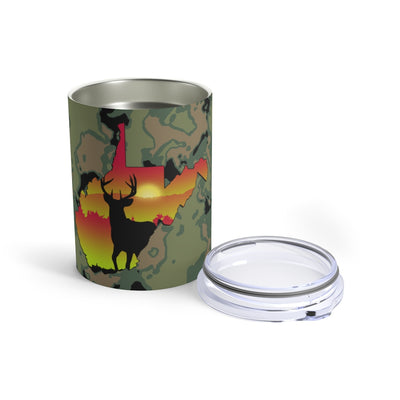 West Virginia Whitetail Tumbler 10oz