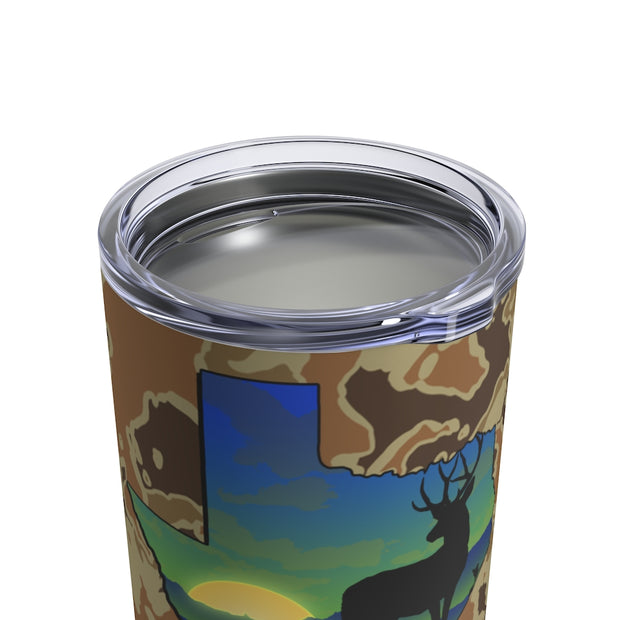 Texas Deer Tumbler 10oz