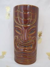 Load image into Gallery viewer, Laughing Dark Brown Tiki Mug, holds 12 ounces