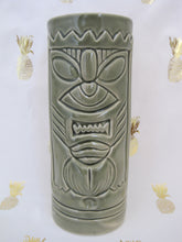 Load image into Gallery viewer, Mean Olive Green Tiki Mug, holds 11 ounces