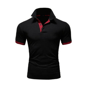 Summer short Sleeve Polo Shirt men Turn-over Collar fashion casual Slim Breathable Solid Color Business men's polo shirt