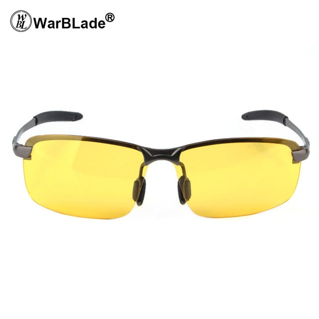 WarBLade 2018 New Yellow Lense Night Vision Driving Glasses Men Polarized Driving Sunglasses  Goggles Reduce Glare