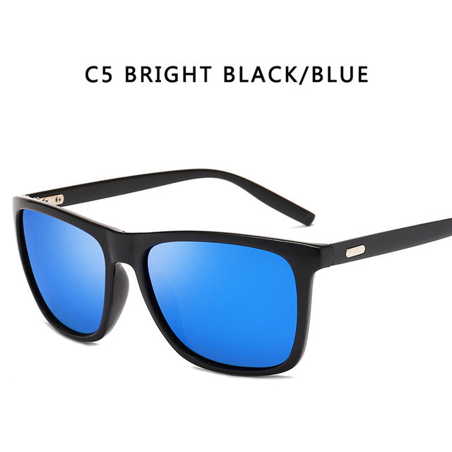 Sunglasses Men Polarized Oversized Mirror Driving Sun Glasses Men Women Brand Designer Retro Vintage Driver Goggles UV400