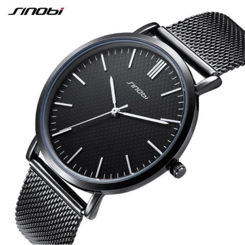 SINOBI top brand fashion all steel waterproof luxury lover watches