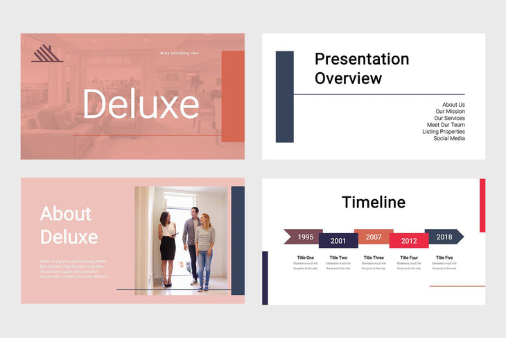 Deluxe Real Estate Keynote Template