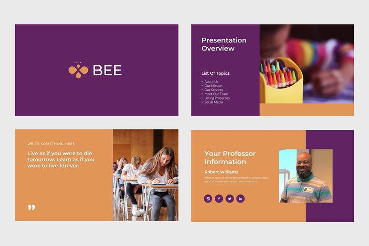 Bee Education Google Slides-PowerPoint Template, Keynote Template, Google Slides Template PPT Infographics -Slidequest