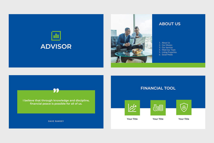 Advisor Finance PowerPoint Template