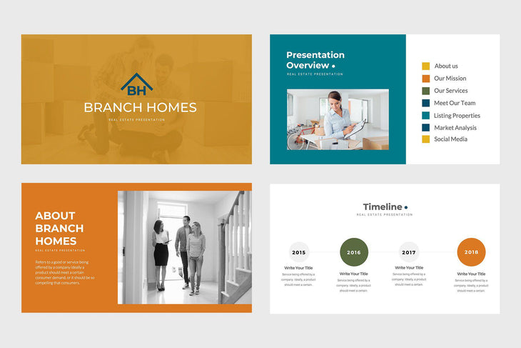 Branch Homes Real Estate Keynote Template-PowerPoint Template, Keynote Template, Google Slides Template PPT Infographics -Slidequest