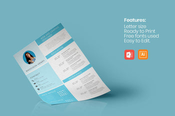 Creative Resume Template-PowerPoint Template, Keynote Template, Google Slides Template PPT Infographics -Slidequest