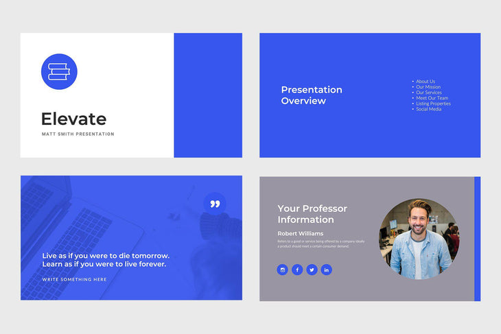Elevate Education Google Slides-PowerPoint Template, Keynote Template, Google Slides Template PPT Infographics -Slidequest