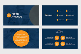 Fifth Avenue Finance PowerPoint Template-PowerPoint Template, Keynote Template, Google Slides Template PPT Infographics -Slidequest