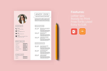 Icaria Resume Template-PowerPoint Template, Keynote Template, Google Slides Template PPT Infographics -Slidequest