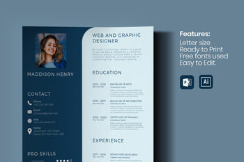 Maxos Resume Template-PowerPoint Template, Keynote Template, Google Slides Template PPT Infographics -Slidequest