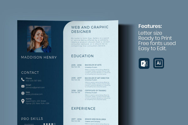 Maxos Resume Template